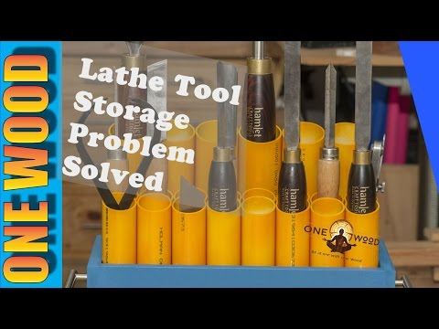 ★ Woodturning Lathe Tool Storage SOLVED | Easy Woodworking Project for Beginners