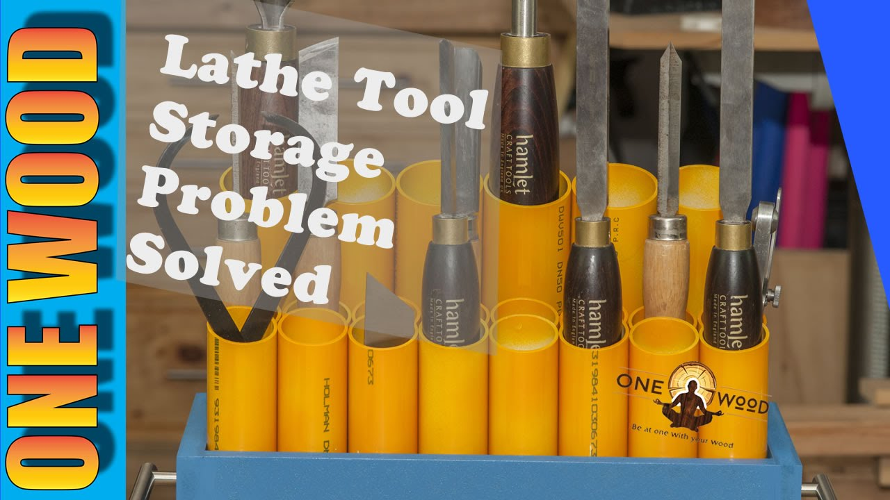 Woodturning Lathe Tool Storage SOLVED | Easy Woodworking ...