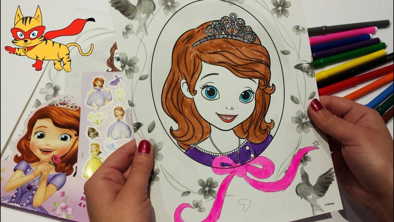 ♥ Juegos colorear ♥ Unboxing y Colorear dibujo de la Princesa ...