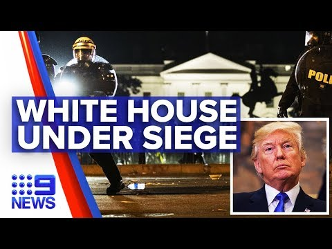 Trump remains silent with nation in chaos | Nine News Australia