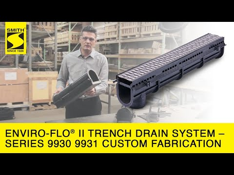 Enviro Flo® II Trench Drain System – Series 9930 9931 Custom Fabrication HD