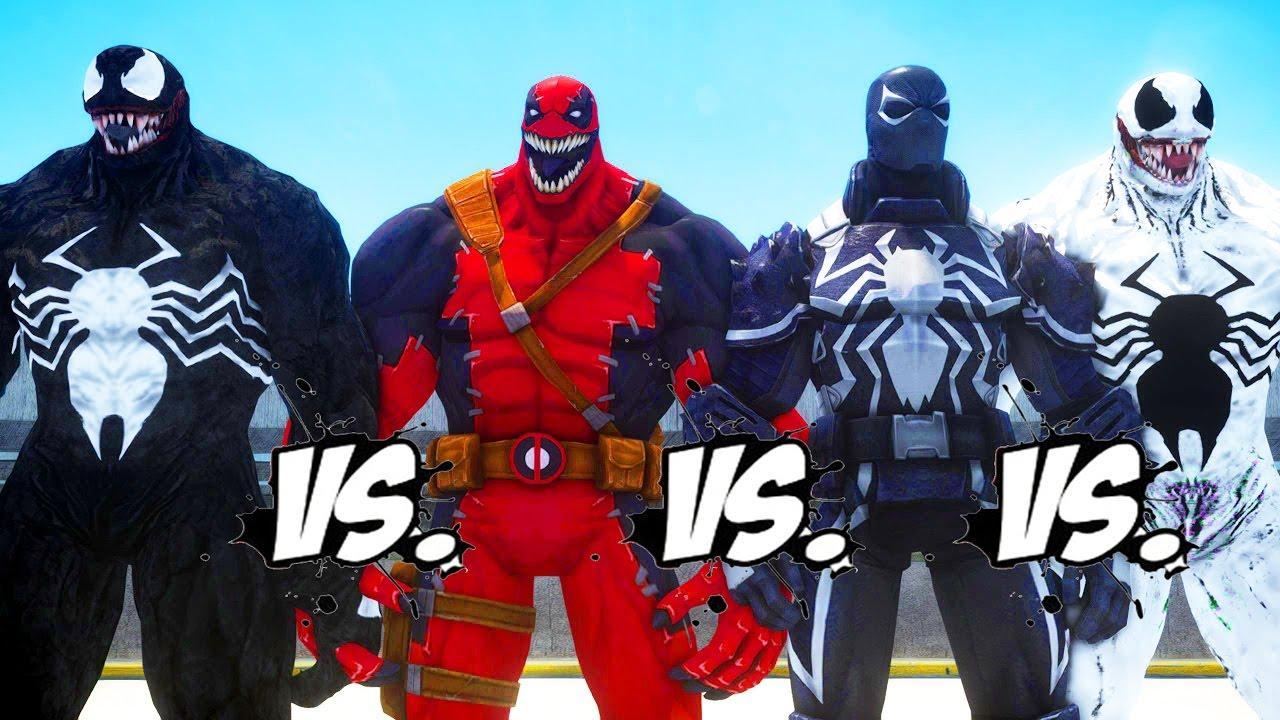 venom vs venompool vs anti venom vs agent venom epic battle youtube