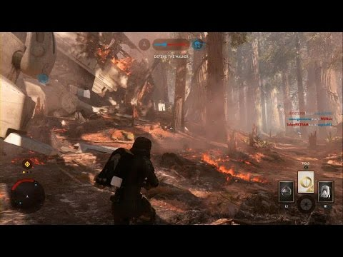 Star Wars Battlefront - New Survivors of Endor Map Walker Assault Gameplay PS4 (No Commentary)