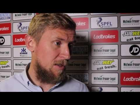 CaleyJagsTV : Richie Foran Reaction v Dundee FC : 24/09/16