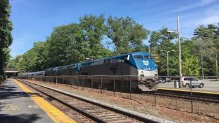 Three engines!!! On Amtrak 449 At Wellesley Farms (9/17/16)