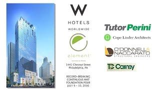 W / Element Hotel Time Lapse Mat Pour Video
