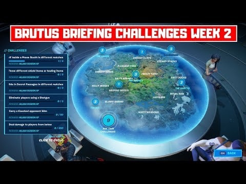 All Brutus Briefing Week 2 Challenges Guide! - Fortnite Chapter 2 Season 2
