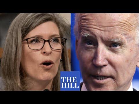 "Joni Ernst warns against a ""potential"" Biden Administration"