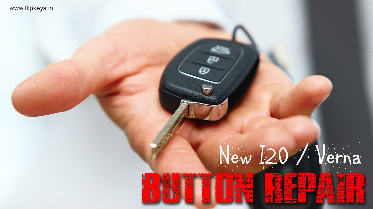 Hyundai I20 Flip Key Button Repair Youtube