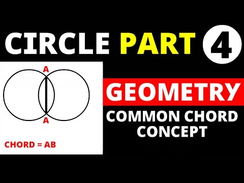 Circle Part - 4 geometry (Common Chord Funda) for SSC CAT , CGL  , other govt exams