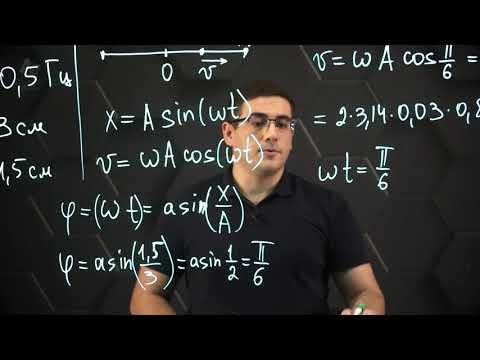 Уравнения и графики механических гармонических колебаний. Практ. часть - решение задачи. 11 класс.