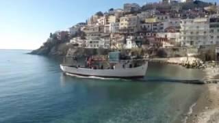 καθέλκυση πλοίου στη Καβάλα (launching ship at Shipyard of Kavala)