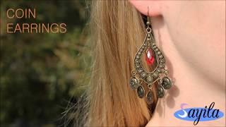 Sieraden maken - Coin Earrings (DIY Tutorial by Sayila)