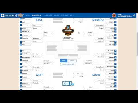 2017 March Madness Bracket Predictions (FOR FUN)