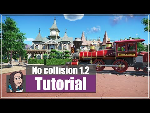 Planet Coaster (tutorial): How you can use the no collision option - Part 1.2  (spring update)