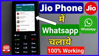 Use Whatsapp on Jio Phone with 100% working method | Jio Phone  me Whatsapp Kaise Chalaye