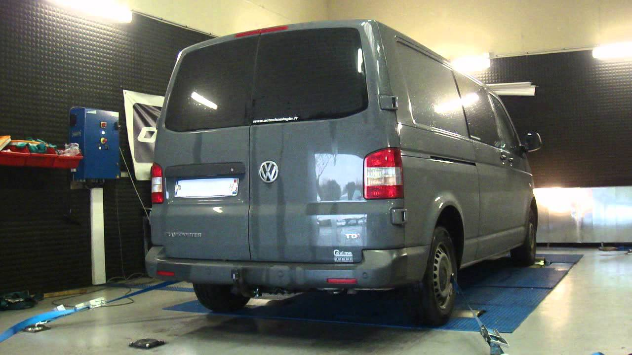 vw transporter t5 tdi 140cv 188cv reprogrammation moteur dyno digiservices youtube. Black Bedroom Furniture Sets. Home Design Ideas