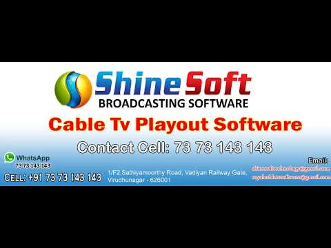Cable TV Broadcasting Playout software +7373143143