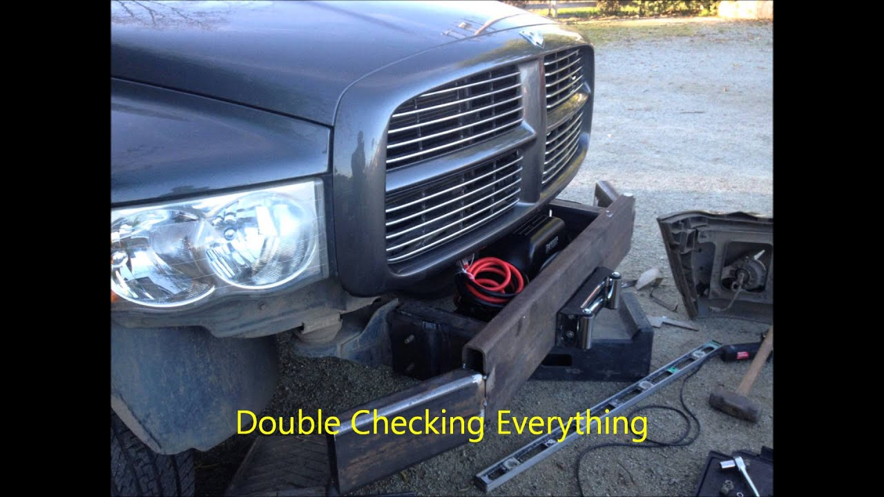 2004 dodge ram custom bumper build