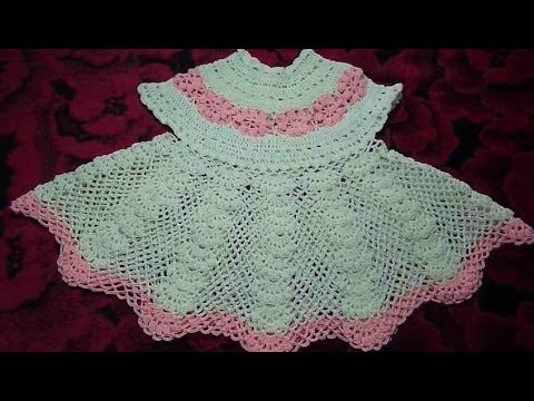 Платье вязанное крючком ажурное для девочки...