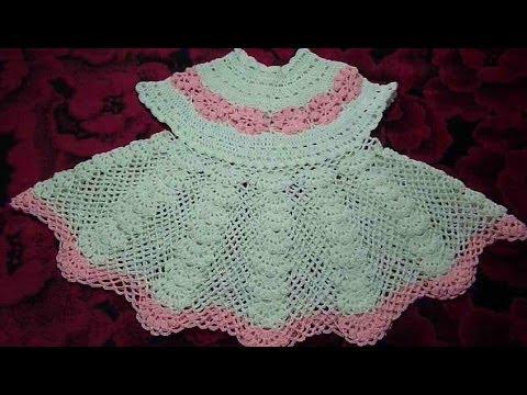 Платье ажурное крючком  от 6 мес/Dress baby crochet/Robe enfant d