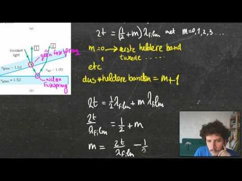 Licht en Golven les 3.3 Dunnelaag Interferentie en Michelson Morley Interferometer