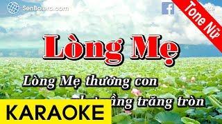 Lòng Mẹ (Y Vân) - Karaoke Nhạc Sống | Tone Nữ