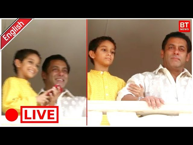 Salman Khan Celebrates Eid 2018 With Fans At His House Galaxy Apartment In Bandra Mumbai Full Live