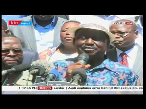NASA leader, Raila Odinga's statement in Kisumu