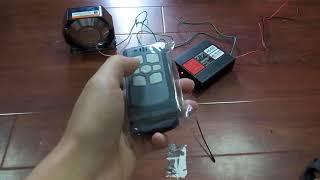 400W MIC Speaker System 8 Sound Loud Fire Siren Horn Bluetooth Silver horn