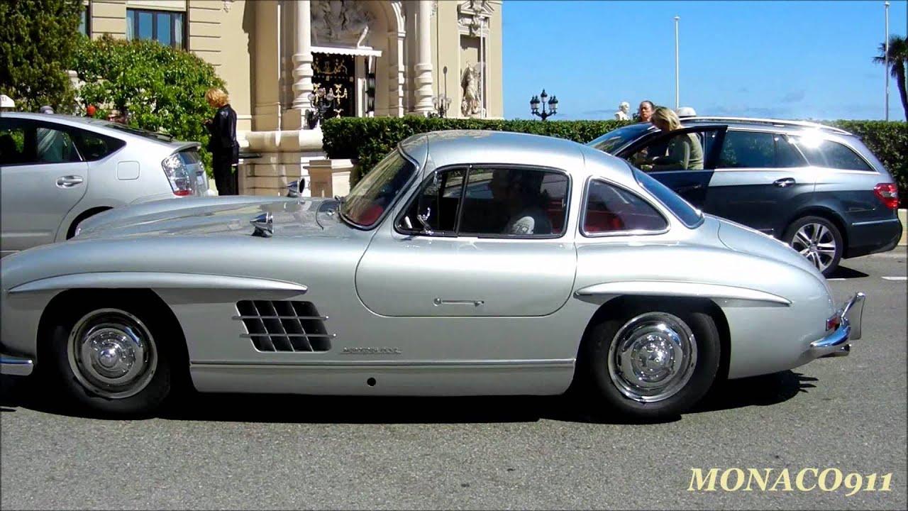 2x Mercedes Sls Amg Amp 1955 Mercedes 300 Sl In Monaco Youtube
