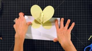 Comment Faire un Papillon Pop-Up Carte | Pop-Up Cartes