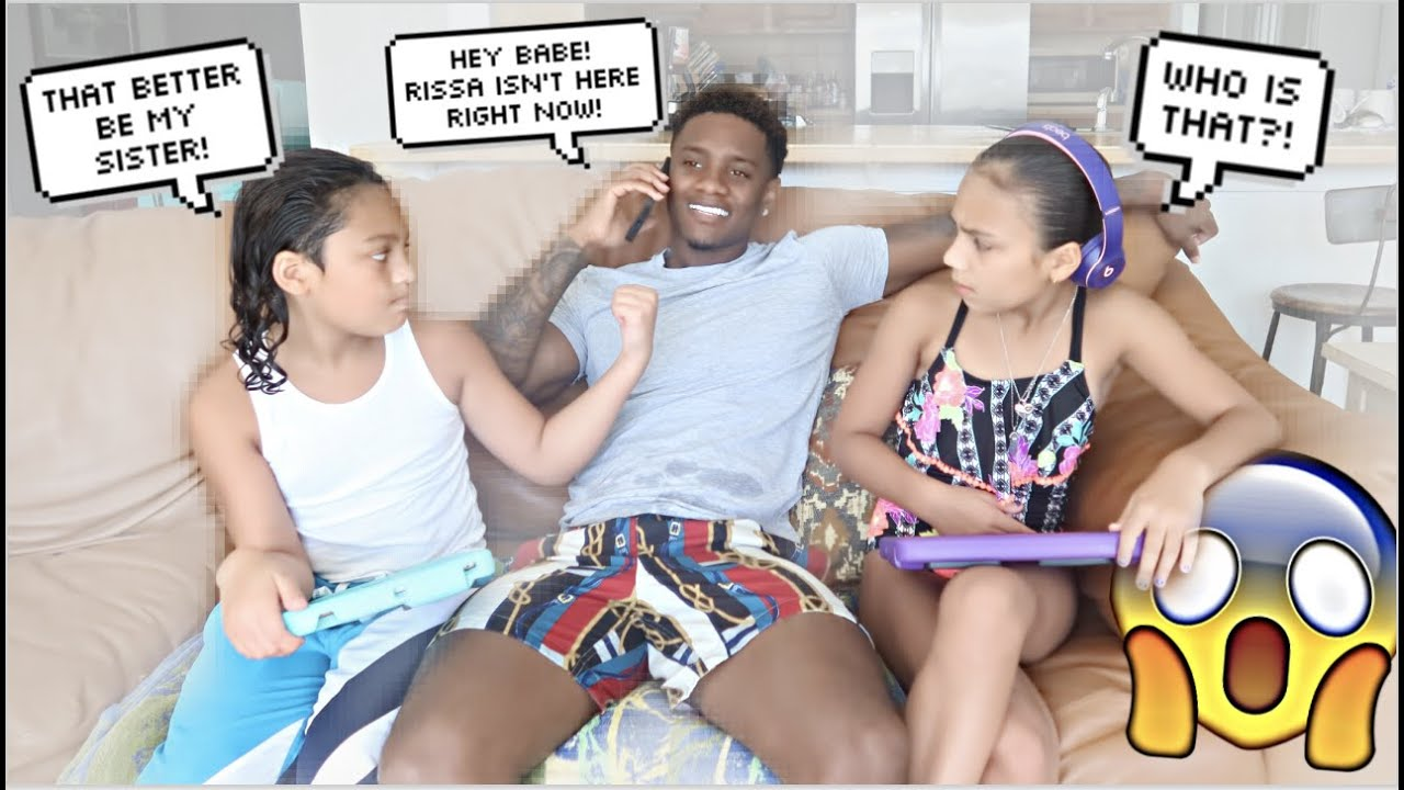 CHEATING IN FRONT OF MY GIRLFRIEND'S LITTLE SISTER & BROTHER! *THEY SNAPPED*