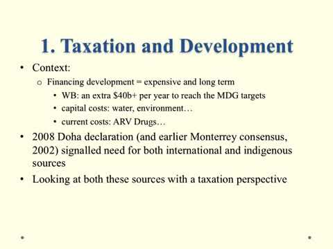 Financing for Development: Tobin Taxes, National Tax Systems and International Tax Transparency