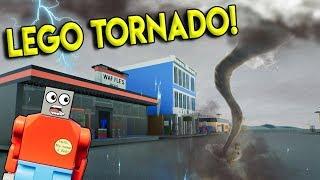 LEGO TORNADO DESTROYS LEGO CITY! - Brick Rigs Gameplay Challenge & Creations - Lego Destruction