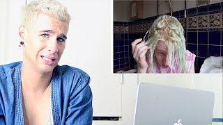 HAIRDRESSER REACTS TO AWFUL DIY HAIR COLOR PART 2! | bradmondo