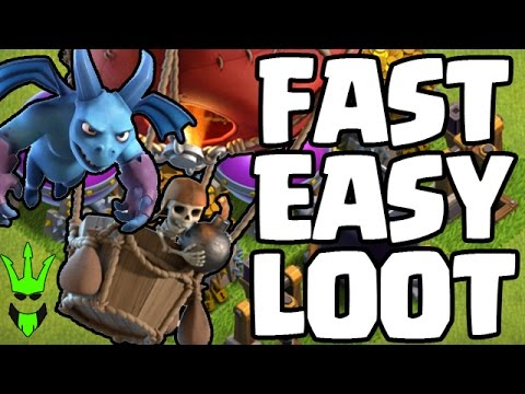 FAST EASY LOOT! - TH9 Hero Farming - Clash of Clans - Loonion Farming for Fast Loot