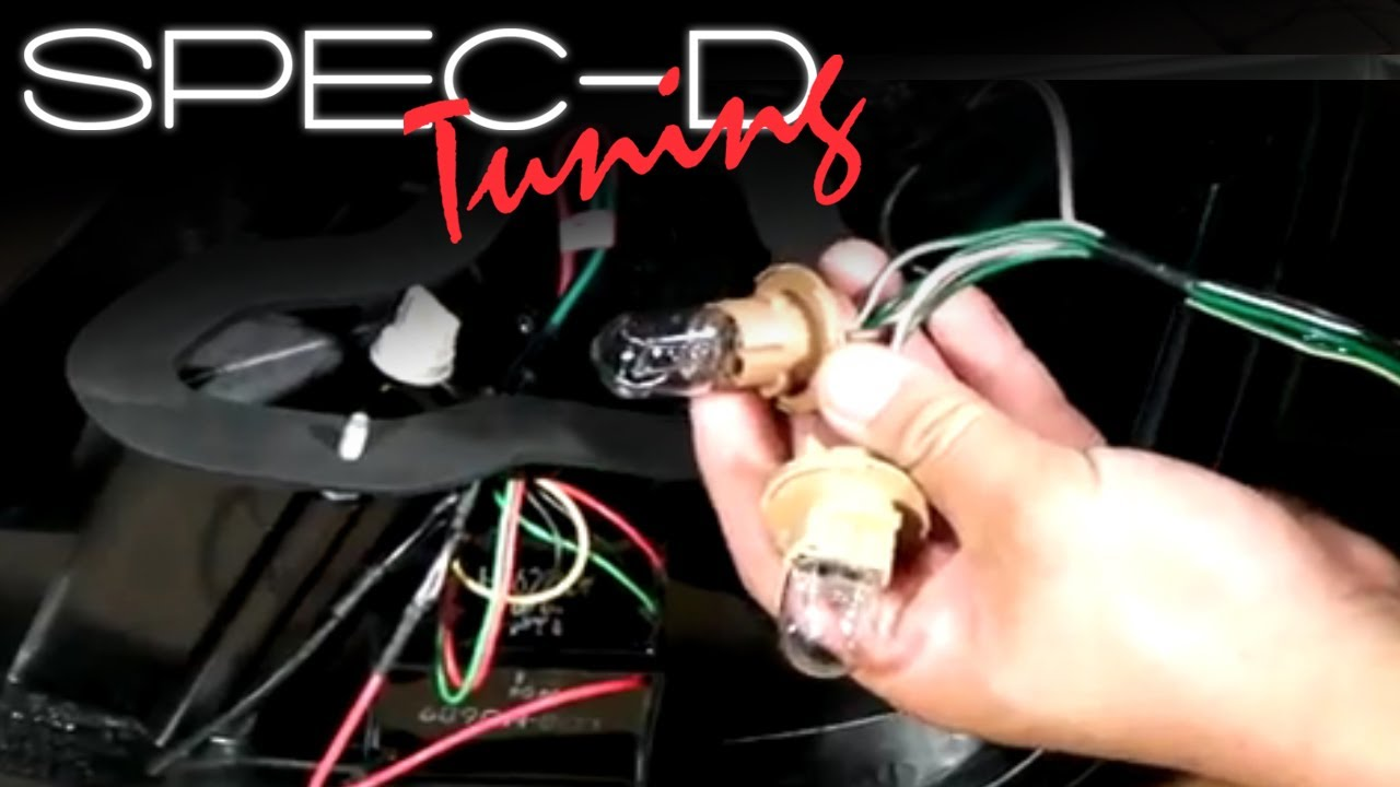 specdtuning installation video led tail lights wiring installation guide youtube [ 1280 x 720 Pixel ]