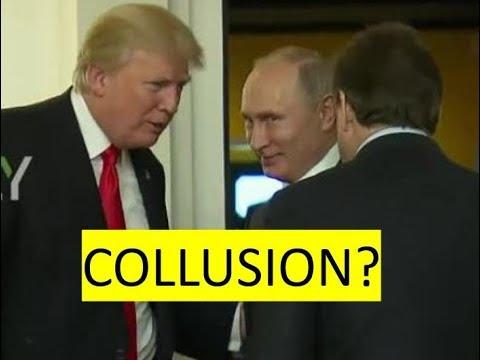 Putin/Trump colluding on camera