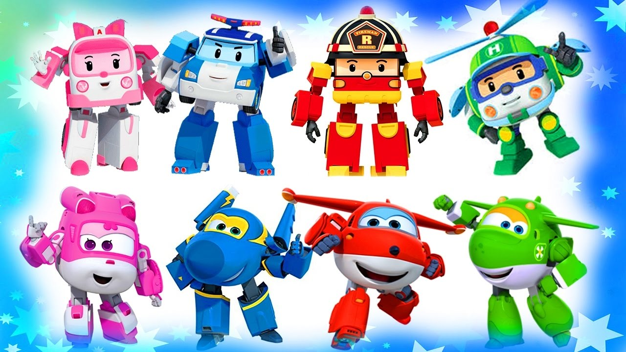 Robocar Poli Coloring Pages For Kids Super Wings