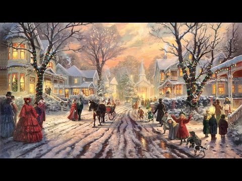 28 Popular Traditional Christmas Carols With Festive Art by THOMAS KINKADE