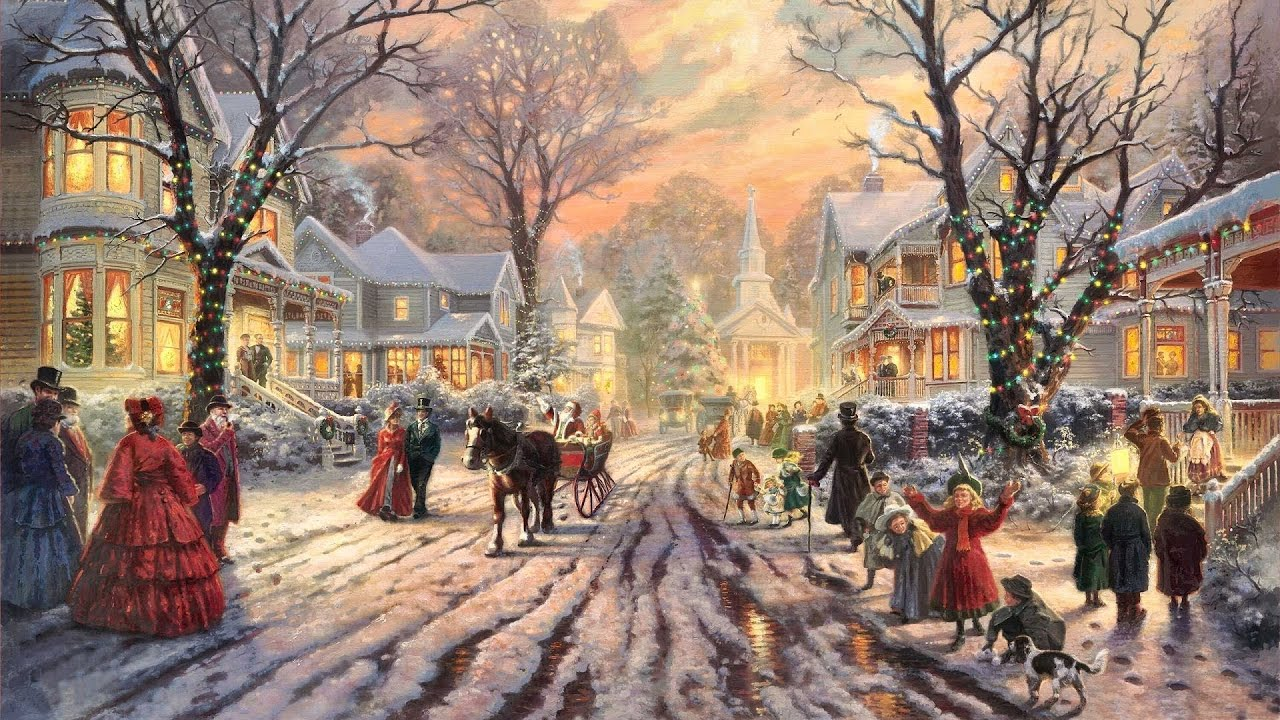 28 popular traditional christmas carols christmas songs for 2018 festive art by thomas kinkade youtube