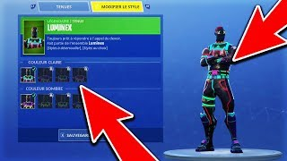 (NEW) CHANGE THE COLOR of TON SKIN FAVORIS in ILLIMITÉ on FORTNITE Battle Royale! 😱