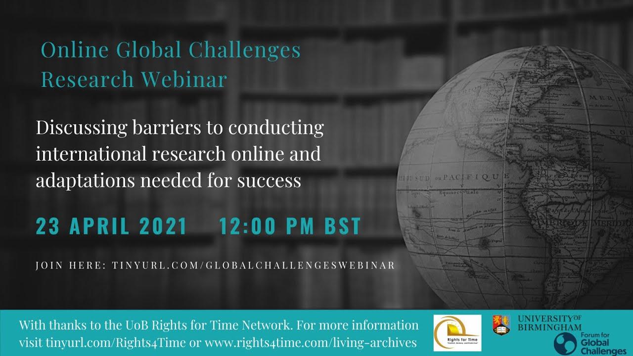 Online Global Challenges Research Webinar