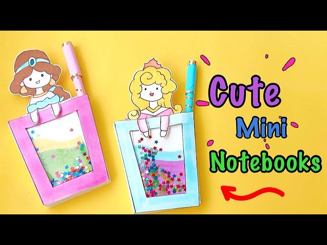 DIY Mini Notebook | Homemade Cute Mini Dairy & Pen Decorations | Pen Decor Idea - DIY BACK TO SCHOOL