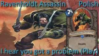Ravenholdt Assassin card sounds in 12 languages -Hearthstone✔