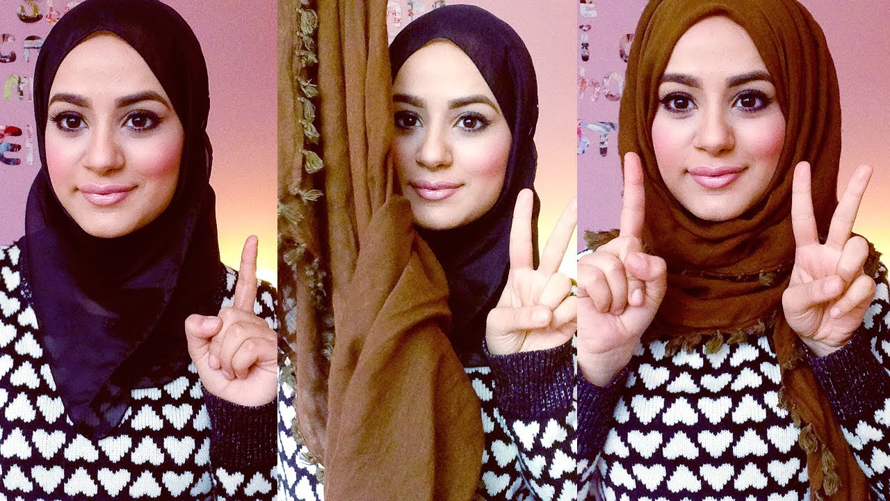 Hijab Tutorial Square Scarf YouTube