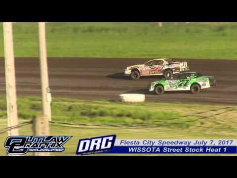 Fiesta City Speedway 6/30/17 WISSOTA Street Stock Heat 1