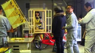 ポップコーンの自転車屋台.