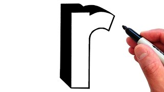 How to Draw Letter r in Lowercase 3D